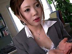 4 kinky men mouth fuck one shy Asian secretary in the office hard