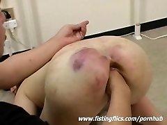 Brutally fist fucked Asian sub