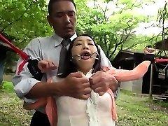 Asian milf Sadism & Masochism anal fisting and bukkake