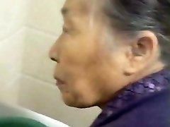 Kneading My Chinese Granny Old Pussy