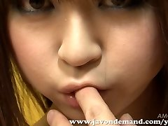 Bombshell Mahiru Hino Wanked Until She Squirts