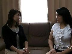 JAV Girl-girl Kissing--Yukari/Misako Sofa