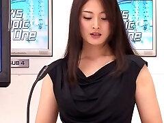 Yuria Ashina, Risa Murakami, Kyoka Mizusawa, ASUKA 2 in Uber-sexy Announcer Upskirt part 4