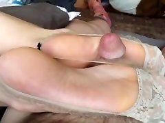 Japanese foot wank