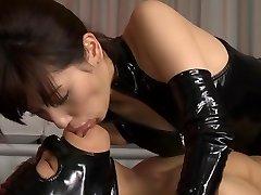 Ultra-kinky Japanese slut Miyuki Yokoyama in Greatest fetish, latex JAV scene
