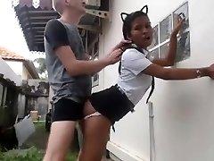 White Guy Smashes His Japanese Maid