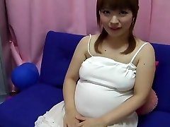 Yui aihara - cute asian preggo nipple play