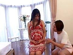 Japanese nurse takes care of her Preggo patient