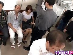 Super Hot MILF Gets Her Pantyhose Pulled Down To Fuck On A Train
