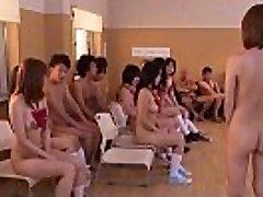 Subtitled uncensored Japanese naturist school club orgy