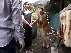 Japanese Teenie Night Outdoor Pussyfingering
