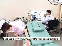 Akiho Yoshizawa Sexy Asian nurse likes teasing the doctor