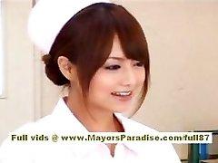 Akiho Yoshizawa Sexy Asian nurse likes teasing the therapist