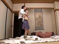 Housewife Yuu Kawakami Boinked Hard While Another Dude Watches