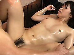 Horny honey pussy fondled and fucked rock hard in threesome