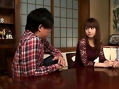 Asian Bro and Friends Screw Beauty Sister at Home