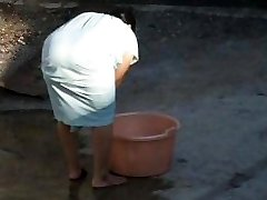 Spying Indian Aunty Big Rump - Bend Over Butt - Caboose Voyeur - Desi Candid