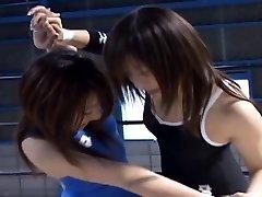 Japanese Honies Wrestling