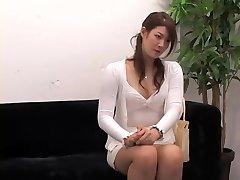 Super-cute Jap rides a ramrod in covert cam interview video