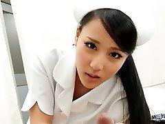 Hot Nurse Ren Azumi Pummeled By Patient - JapanHDV