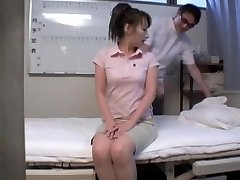 Nude Japanese girl sprayed in hidden camera rubdown movie