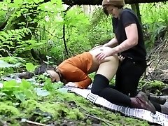 Lesbian Outdoor Rain forest Cable-On Penetrate