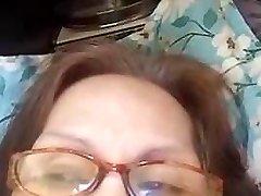 Grannie Evenyn Santos does anal flash again.