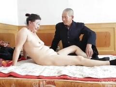 Handsome Chinese grandpa giving fuckin'