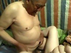 chinese grandpa cum inwards grandma