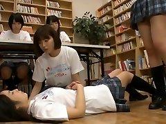 Japananese student lesbian orgy!!! (Full vid)