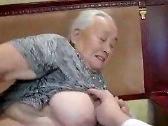80yr old Japanese Granny Still Luvs to Fuck Uncensored