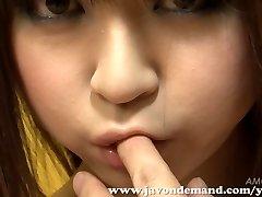 Cutie Mahiru Hino Jerked Until She Squirts