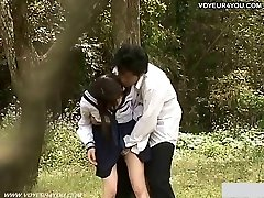 Teenie School Girl Outdoor Garden Fuck