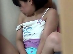 Asian teen fingers cage