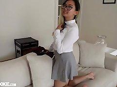 Gorgeous Asian Schoolgirl Teenage Harriet Sugarcookie Solo