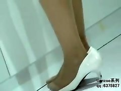 Candid Asian Nylon Pantyhose Feet & Legs Shoeplay Hostesses