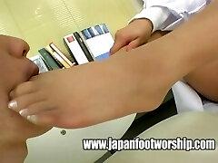 Japanese women physicians pantyhose feet
