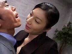 Tall japanese office lady in manage