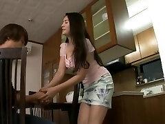 Buxomy MILF Meguri seduce and fuck daughter's innocent boyfriend