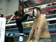 Japanese mistress Kaede kickboxing dominance part 2