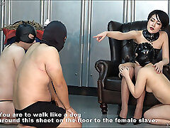 Japanese BDSM Strap-on and Spanking Whipping