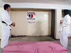 Scorching Asian dojo work out