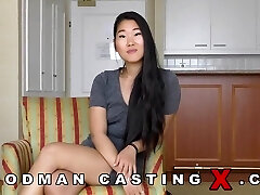 Asian girl gets poked in both her holes well katana
