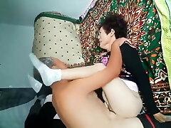 Amateur Asian Grandpa Pounding Wifey Hard