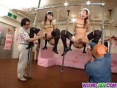 Mischievous restrain bondage for sleazy maids
