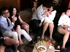 Swingers swap partners and big group sex