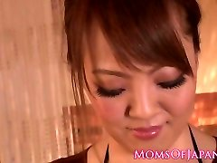 Huge-chested japanese milf tit-fucking