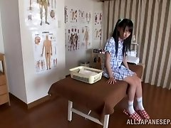 Hot Asian teen likes the art of glamour massage
