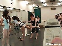black-haired Asian breezy dancing ballet part5