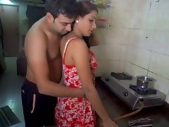 Hubby licking wife